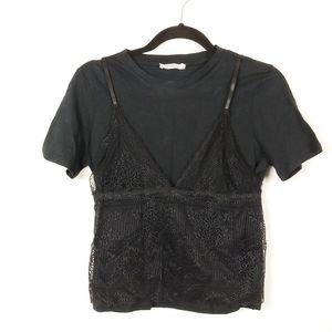ZARA lace t-shirt